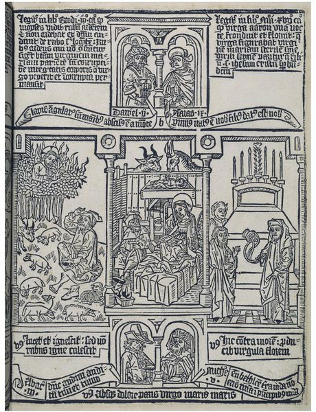 The Bible of the Poors (Triptychs with scenes of the life and passion of Jesus Christ, prefigured in different histories of the Old Testament)