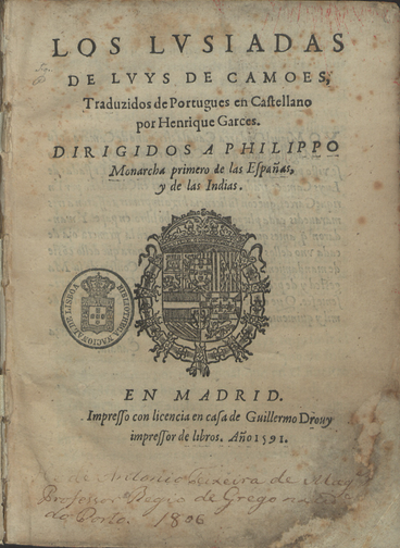 The Lusiadas, epic poem translated by Henrique Garcés