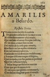 Epistle of Amarilis to Belardo