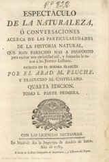 Espectacle of Nature, by Noël Antoine Abad de Pluche (1732)
