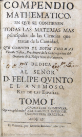 Mathematical Compendium, by Tomás Vicente Tosca (1707-1715)